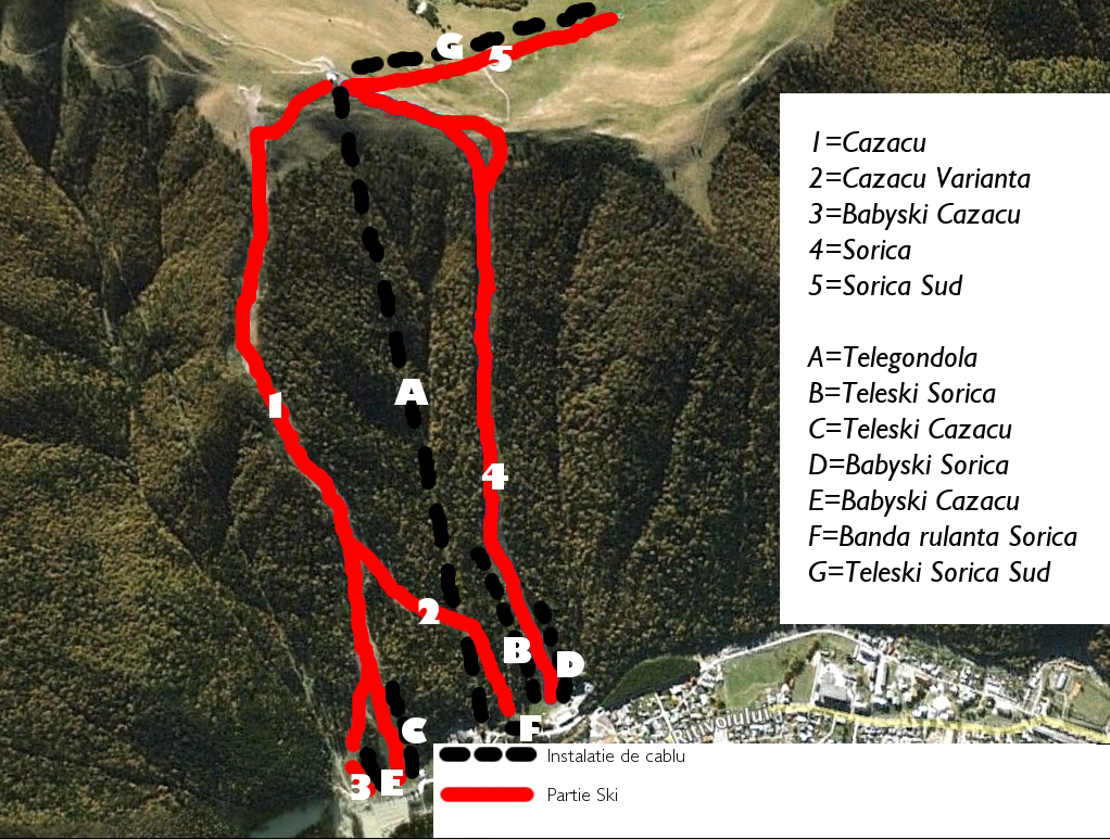 Harta Partii Ski Azuga